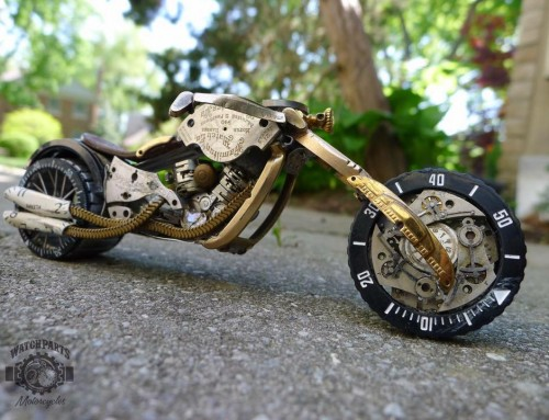 Dan Tanenbaum | Motorcycle made of Watch Part