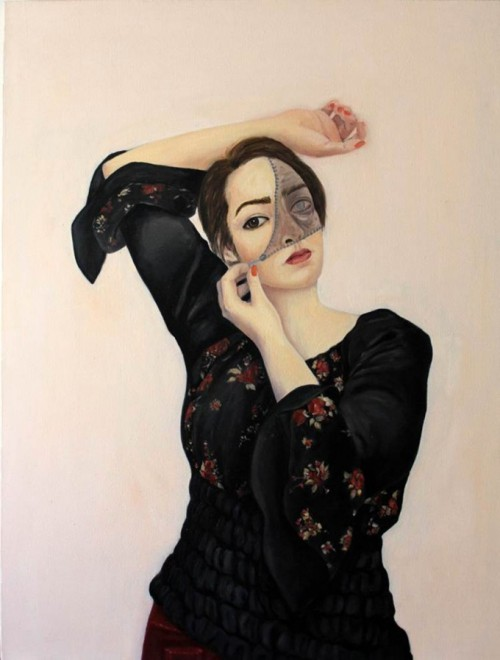 Persona Situation #12- Beautiful Oil on Canvas paintings by Shabnam Ehdaei